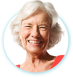 smiling old woman with dentures